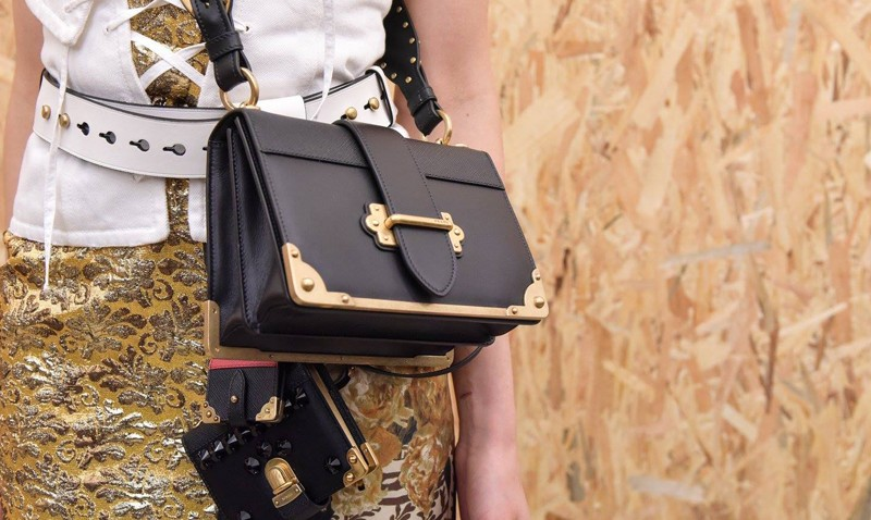 d39fd475bea Classy, sophisticated and chic, the new replica Prada Pionniere Bag is set  to conquer every bag-aholic s heart. Its black calf leather is the purest  we ve ...