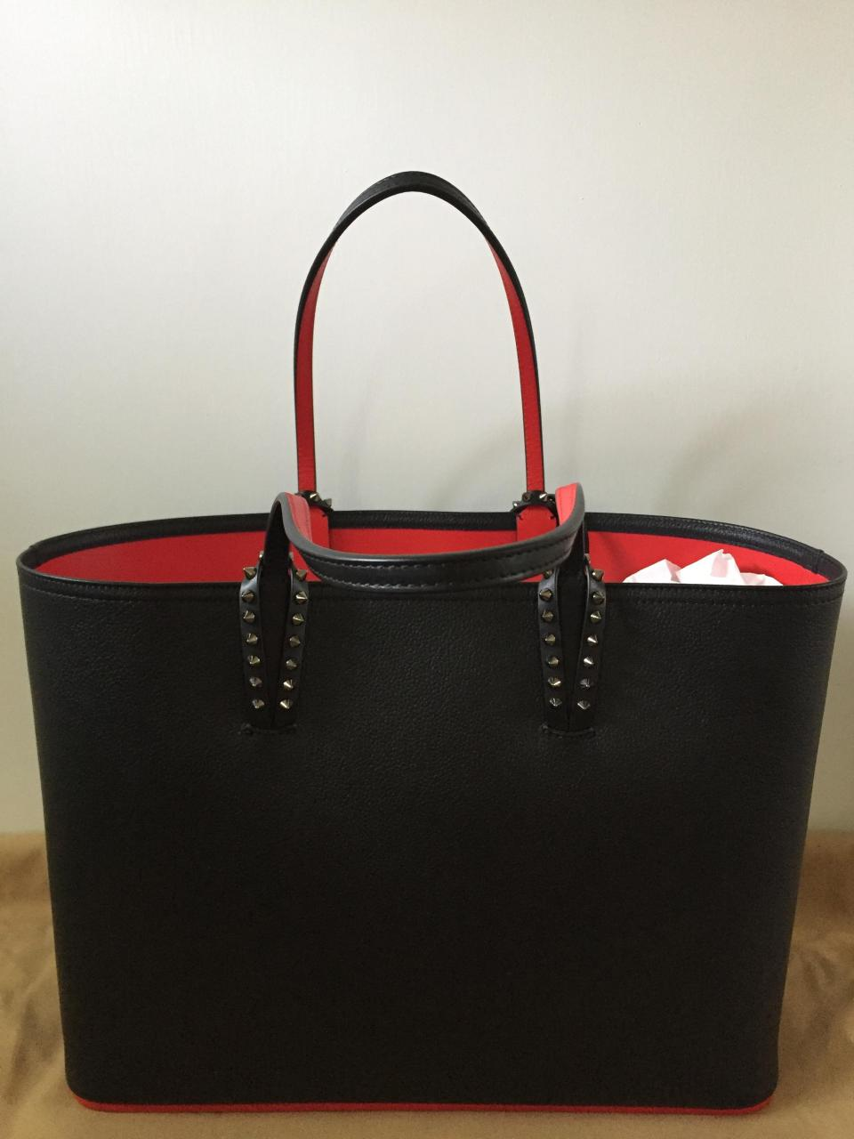Handbag Replica Wholesale Center Christian Louboutin – Cabata Black Leather  Tote c7afef99079b9